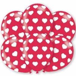 Ballonnen hartjes motief 6 stuks