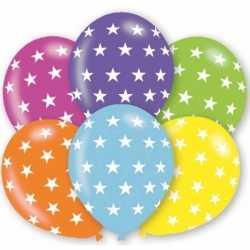 Ballonnen sterren motief 6 stuks