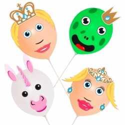 Ballonset prins prinses 4 stuks