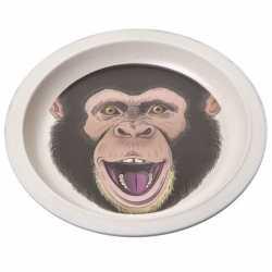 Bamboe ontbijtbord chimpansee kinderen 21