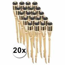 Bamboe tuinfakkels set 20 stuks 61