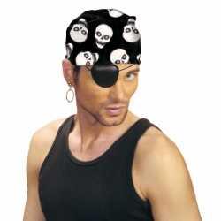 Bandana piraat doodshoofd print