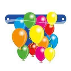 Banner teken ballonnen