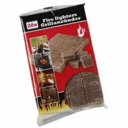 Barbecue aanmaakblokjes 28 stuks