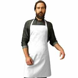 Barbecue keukenschort volwassenen wit