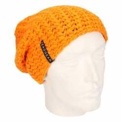 Basic beanie muts oranje heren