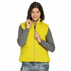 Basic bodywarmer geel dames