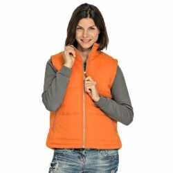 Basic bodywarmer oranje dames