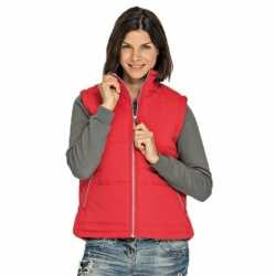 Basic bodywarmer rood dames