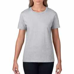 Basic ronde hals t shirt grijs dames