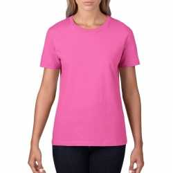 Basic ronde hals t shirt licht roze dames