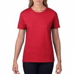 Basic ronde hals t shirt rood dames