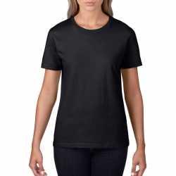 Basic ronde hals t shirt zwart dames