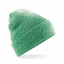 Basic winter muts groen gemeleerd volwassenen