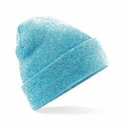 Basic winter muts lichtblauw gemeleerd volwassenen