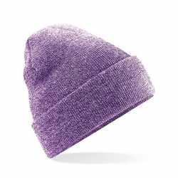 Basic winter muts paars gemeleerd volwassenen