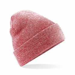 Basic winter muts rood gemeleerd volwassenen