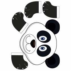 Basis artikel dierenmasker panda