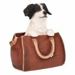 Beeldje border collie hond in tas 11