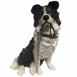 Beeldje Border Collie hond riem 17