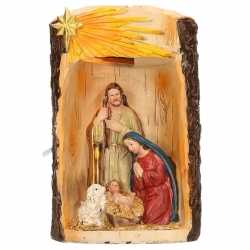 Beeldje heilige familie verlichting 19