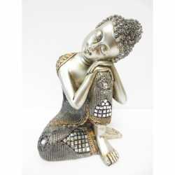Beeldje slapende Boeddha zilver 28
