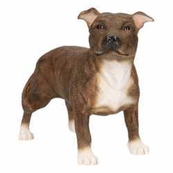 Beeldje Staff Bull Terrier bruin 15