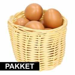Beige paasmandje eieren naturel 14