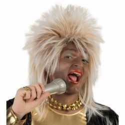 Bekende Rock Star pruik blond