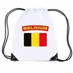 Belgie nylon rugzak wit belgische vlag