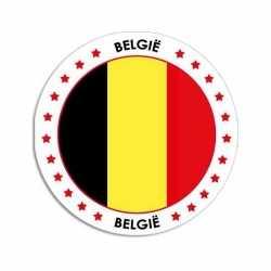 Belgie sticker rond 14,8