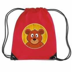 Beren rugtas / gymtas rood kinderen