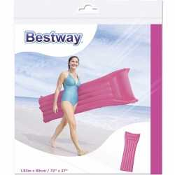 Bestway basic luchtbed roze 183