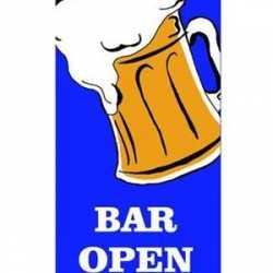 Bier vlag Bar Open 240 bij 90