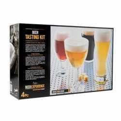 Bierglazen proef set speciaal bier 4 stuks