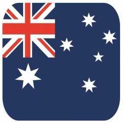 Bierviltjes australische vlag vierkant 15 st