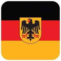 Bierviltjes Duitse vlag vierkant 15 st