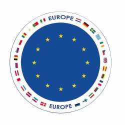 Bierviltjes Europa thema print
