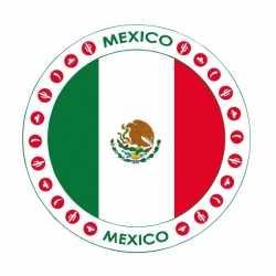 Bierviltjes Mexico thema print
