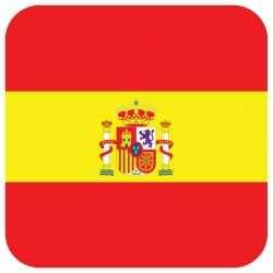 Bierviltjes Spaanse vlag vierkant 15 st