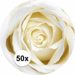 Bierviltjes witte roos 50 st