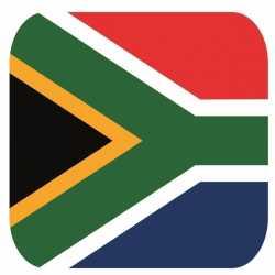 Bierviltjes zuid afrikaanse vlag vierkant 15 st