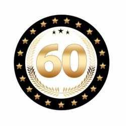 Bierviltjes zwart goud 60 jaar