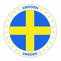Bierviltjes Zweden thema print