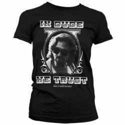 Big Lebowski shirt dames zwart