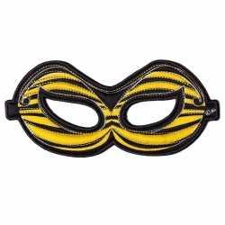 Bijen oogmasker geel kinderen