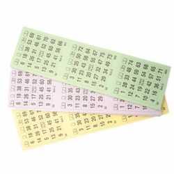 Bingo kaarten 1-75