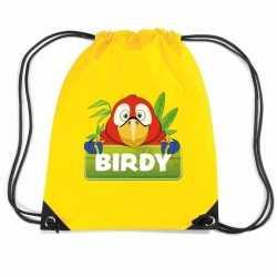 Birdy de papegaai rugtas / gymtas geel kinderen