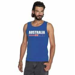 Blauw australie supporter singlet shirt/ tanktop heren
