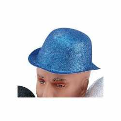 Blauw bolhoedje glitters